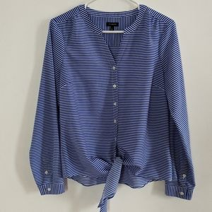 Talbots striped button down size small